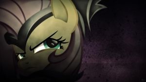 Fluttershy The Warrior ~ Wallpaper by Karl97