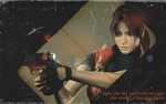 light the sky-Claire Redfield- by QuidxProxQuo