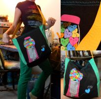 Upcycled T Shirt to Bag by colormecrazi