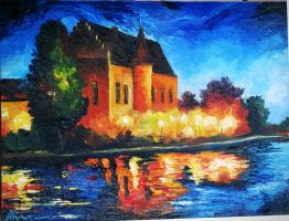 reproduction of Afremov's painting by NastyaGD