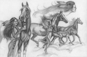 The Girl Who Ran With Horses- Blackfoot Tribe by HarttoHeart