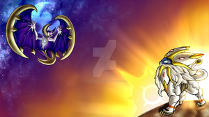 Solgaleo and Lunaala Bg by VeeVeeTheRperNArtist
