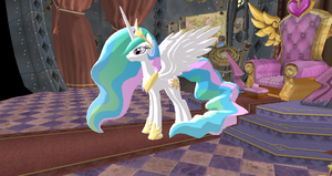 Princess Celestia + DL by Valforwing