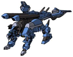 GAT-X137 Vanguard Gundam quadruped mode by unoservix