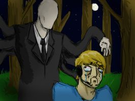 Pewdiepie and Slender Man by noah123
