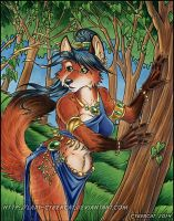 Woodland Vixen Painting by lady-cybercat