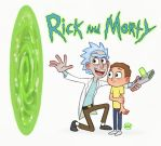 Rick and Morty by LuigiL