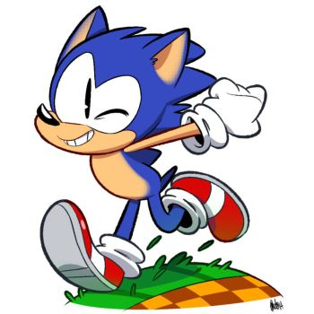 Sonic Running on a Green Hill by AutoCartoons