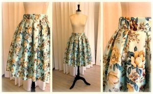 1950s vintage inspired skirt by Samwakenz