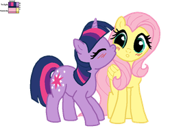 Twilight Sparkle and Fluttershy - Recolour by MsFluttershy