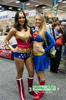 Wonder Woman and Super Girl by LuckyMintPhoto