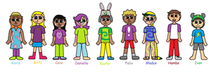 AlphaKidz Contestants A-I by AnOptimisticSnarker