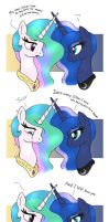 MLP FIM comic - Princess Celestia And Luna by Joakaha