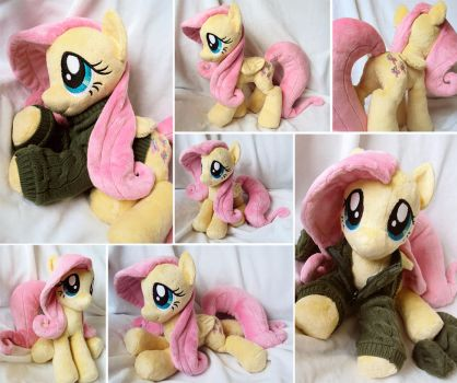 Fluttershy with Sweater and Socks by ButtercupBabyPPG