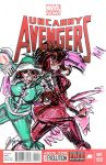 uncanny avengers 1 Variant Blank Cover III by joselrodriguesart