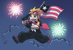 Happy 4th of July from EWG and Jumping Boy by EryckWebbGraphics