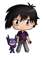 [Commission] Chibi Mark and Sableye by izka197