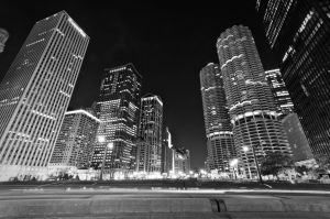 Chicago by night by PatrickMonnier