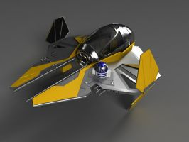 Anakin Starfighter by phantomx2