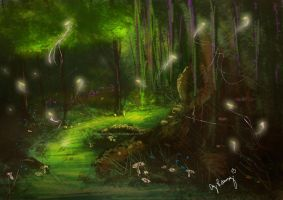 Fairy Forest speed painting by AmandaRamsey