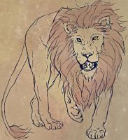 Lion Tattoo design by marquisee