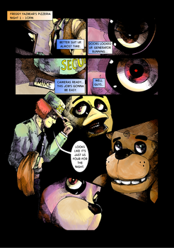 Five Nights at Freddy's : Day and Night page 6 by EyeOfSemicolon