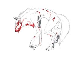 Zombie Wolf scetch by Ex-L