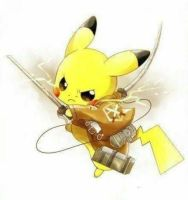 pikachu in attack on titan! by casualartist89