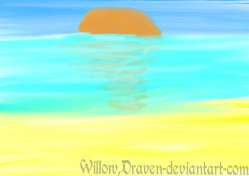 Beach Sunset by Willow-Draven