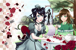 C: The Hatter and the Hare by MiraiParasol