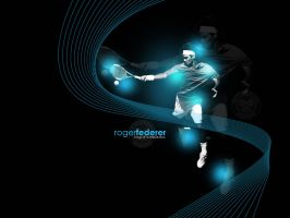 Roger Federer Wall by Hgfx