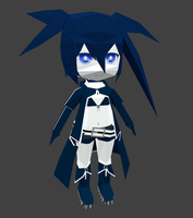 black rock shooter papercraft by goncalo-neto