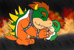 baby bowser and his father by chillsmartgurl