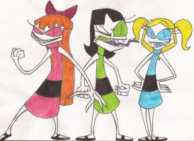 Twisted Toons : The Powerpuff Girls by DoofenEmpire