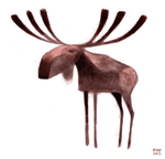 Moose Sketch by sketchinthoughts