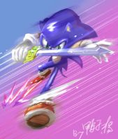 Sonic and sword by tikal