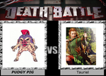 Death Battle: Pudgy Pig VS Tauriel by Guy01