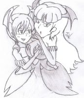 Morrigan and Lilith by SuperGon-64