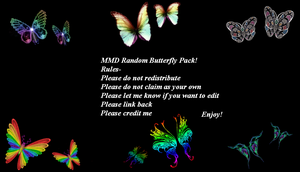MMD Random Butterfly Effects (50 Watchers Special) by ChestNutScoop