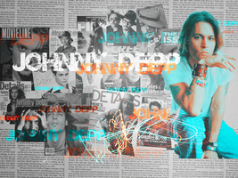 Johnny Depp Wallpaper 2 by Dzouff