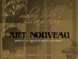 Art Nouveau by Mabru by Mabru-Black