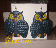 Owls earrings by YuminoFIMOloose
