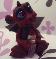polymer clay dragon stone by crazylittlecritters