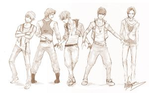 k-pop guyz by nitiryan