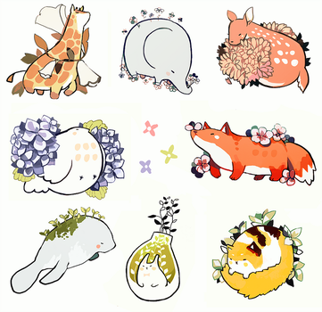 mochi animals by eaphonia