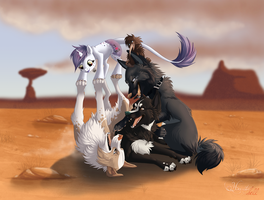 Friends pile by hecatehell