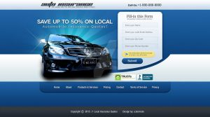 Web Design: Car Insurance Sales Page by ab6421