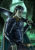 Dragon Chronicles - Corrupted Elven King by RobertCrescenzio