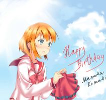 Happy Birthday Manaka Komaki by HaiHoVoThan