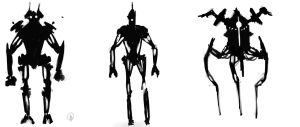 Robot Silhouettes - 1 by Lonewolf898